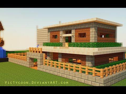 Tuto Minecraft Comment Faire Une Maison Facile A Realiser En Survie Youtube