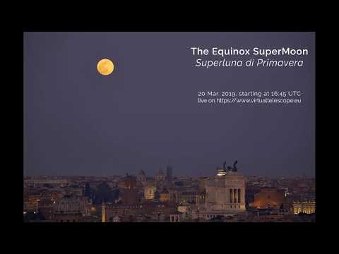 The 2019 Equinox Supermoon: online observation – 20 Mar. 2019