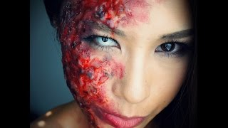 Burned/Melted Face Makeup Tutorial