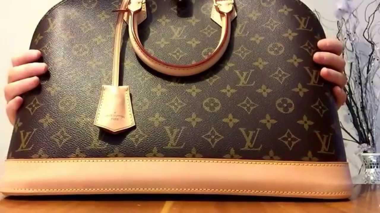ef3b92af2474 Authentic Louis Vuitton alma Gm monogram compare speedy 35 ...