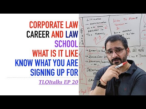 TLOItalks EP 20   Corporate Lawyer Career Perspective   Should you pursue law   India