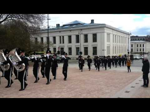 Oslo Royal Palace guard en route to change