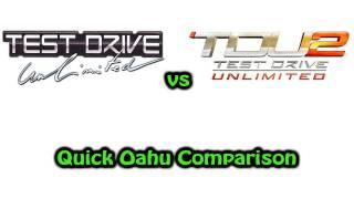 Test Drive Unlimited vs Test Drive Unlimited 2 - Quick Oahu Comparison