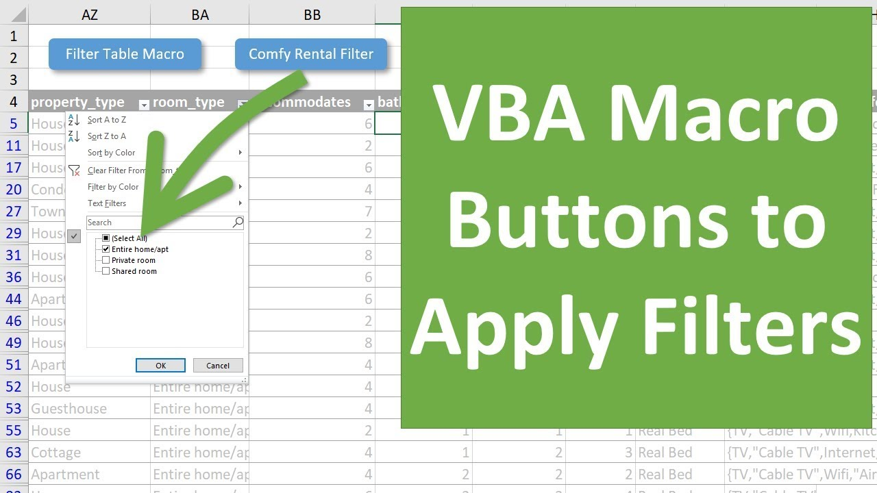 How to Create VBA Macro Buttons for Filters in Excel - Excel