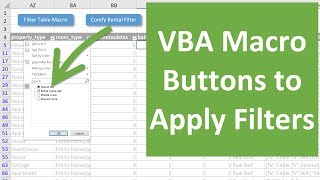 How to Create Macro Buttons for Filters in Excel
