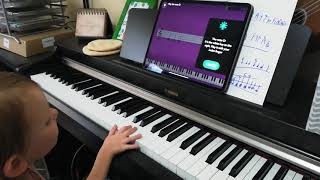 3 year old playing piano - with the Simply Piano app