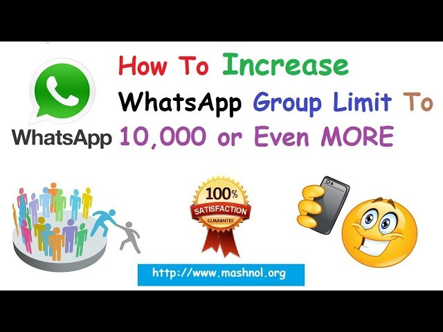 Increase WhatsApp Group Members Limit from 256 to 10,000 or More