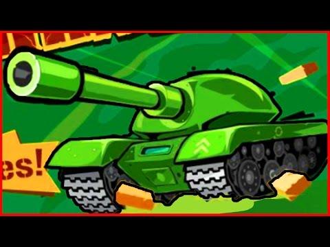 Awesome Tanks Эпическое сражение танков мультик игра для детей от Фаника