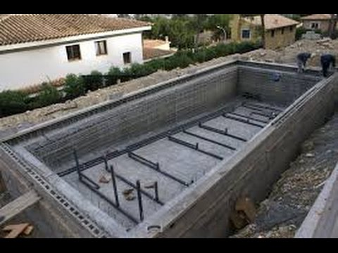 Como hacer una piscina de obra paso a paso youtube for Como construir una piscina