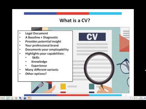 OA Webinar: CV Myths & Reality