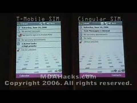 T-Mobile MDA with T-Mo and Cingular SIMs - Part 1 of 3