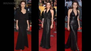أنجلينا جولي ملكة الأزياء السوداء