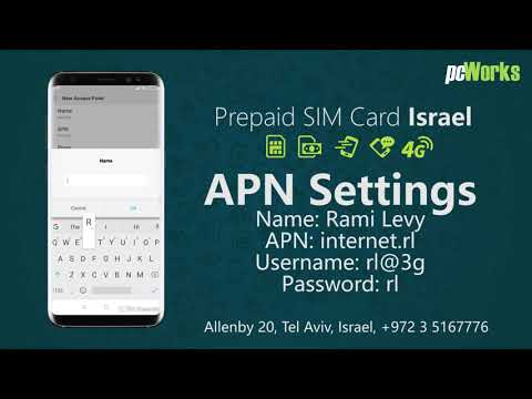 Rami Levi Mobile APN Settings   Prepaid SIM Card Israel