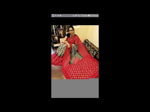 Mercerized Ikat Cotton Sarees