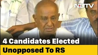 With HD Deve Gowda, Others, Karnataka Fills 4 Rajya Sabha Seats Unopposed