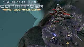 Supreme Commander FAF - 4v1 Cheating A.I. Who will survive?