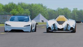 5 4 Mb Download Lagu Tesla Roadster Vs Lamborghini Egoista Top