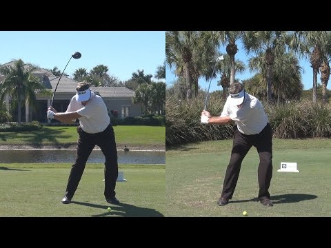 PETER JACOBSON DRIVER & IRON GOLF SWING SYNCED REG & SLOW MOTION 1080p HD