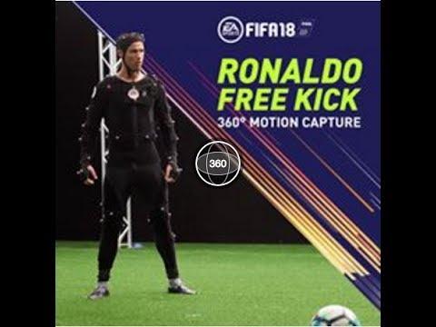 RONALDO FREE KICK : 360° MOTION CAPTURE [FIFA 18]