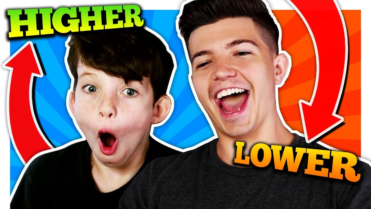 HIGHER or LOWER CHALLENGE with my LITTLE BROTHER! - YouTube