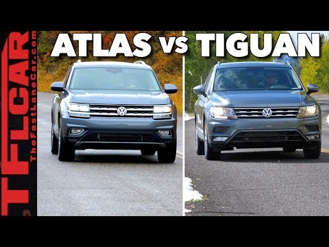 Buffalo, Grizzly Bears & Geysers: 2018 VW Atlas vs Tiguan Yellowstone Road Trip Review!