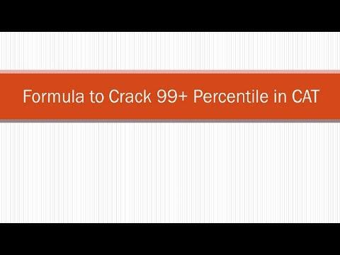 Formula to Crack 99+ Percentile in CAT