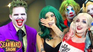 THE JOKER vs COMIC CON! Spider-Man, Batman, Harley Quinn - The Sean Ward Show