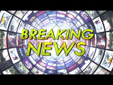 BREAKING NEWS Text Animation in Monitors Tunnel, Rendering, Background, Loop, 4k