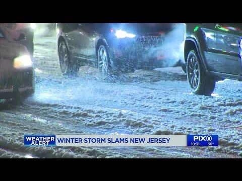 Winter storm slams New Jersey