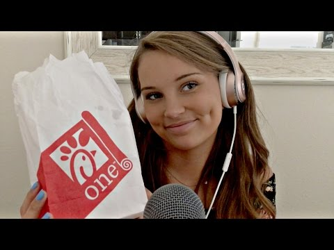ASMR Eating Chick-fil-a BREAKFAST 200K CELEBRATION