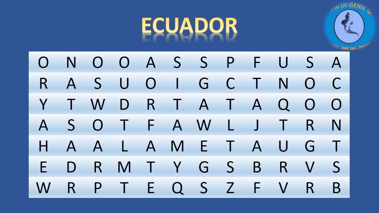 Countries - crosswords | #SkillupwithGenie #Brainteaser #Crossword