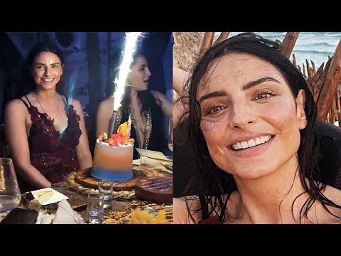 Aislinn Derbez celebra cumpleaños número 34 en compañía de sus amigos