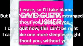 David Guetta ft. Usher - Without You (on-screen lyrics, download link, HQ audio)