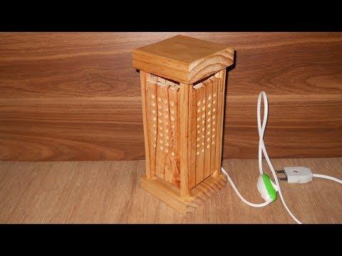 Cara Membuat Lampu Hias Unik Dari Kayu Palet Bekas