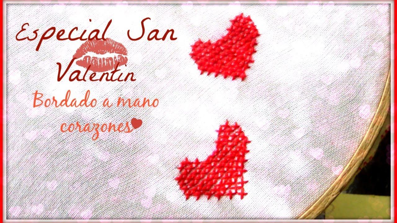 ❤ ESPECIAL SAN VALENTIN 14 FEBRERO 2017 ❤ ¡BORDADO A MANO ...