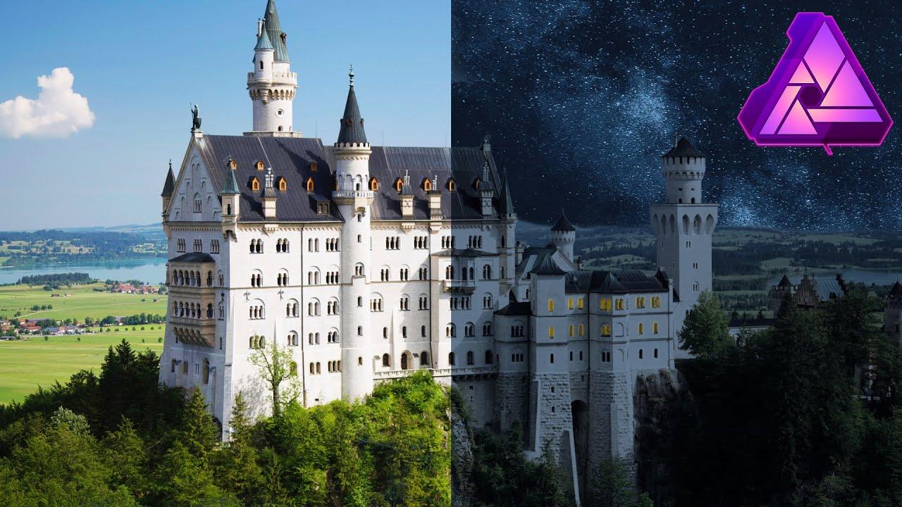 AFFINITY PHOTO arbeiten mit MASKEN | Himmel austauschen | Sky Replacement Tutorial (Deutsch)