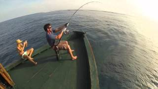 Fishing Maldives, GT popping(Equipment used: Rod: Yamaga Blue Reef 710/8 Reel: Shimano Stella 18000 Line: Jerry Brown Hollow 100lbs Leader: Varivas shock leader 130lbs Lure: ..., 2014-05-04T11:41:47.000Z)