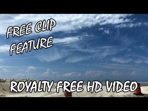 Free Clip Feature: BEACH SKY PANORAMIC Free Stock Video Clips Royalty Free HD Video Footage 1080