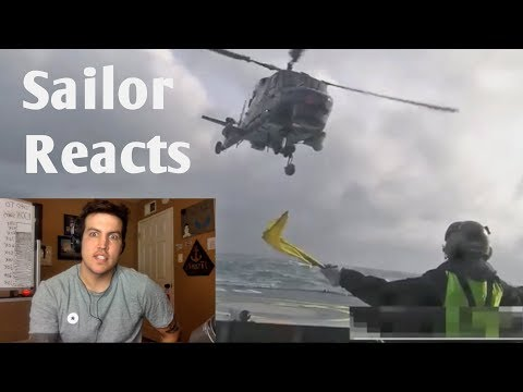 Insanely Dangerous Helicopter Landing - Navy Veteran Reacts
