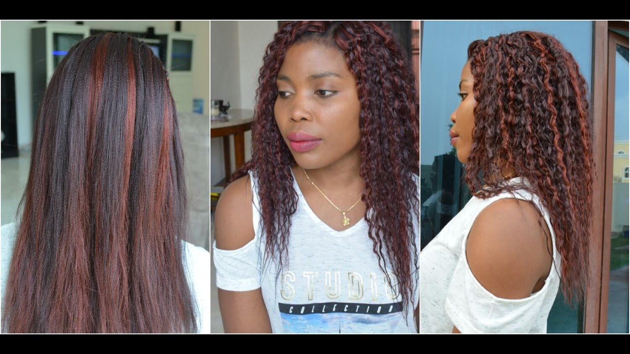 How To Curly Crochet Braids With Kanekalon Hair