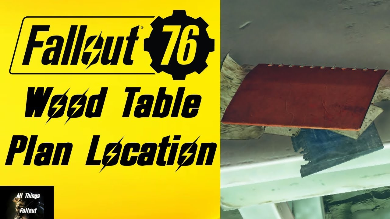 Fallout 76 Wood Table Plan Location