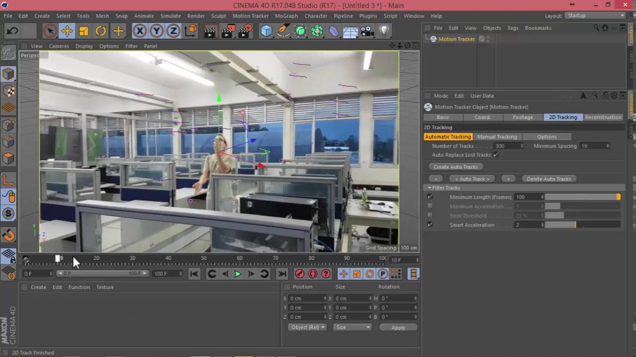 Cinema 4d tutorial captura de movimiento motion tracking for Cinema 4d innenarchitektur