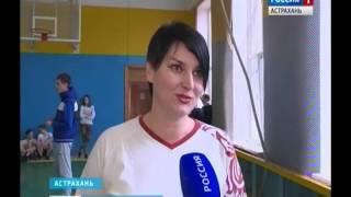 Игроки сборной России по гандболу провели урок физкультуры для астраханских школьников