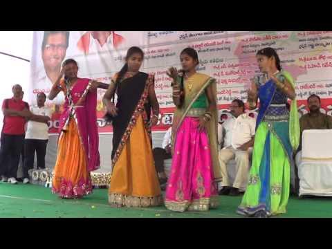 MOMMANI GROUP DANCE MADANO NA VAIYARI ON 12.1.15,KARIMNAGAR, TNGO'S SPORTS MEET