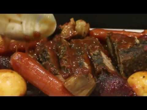Veggie Red Wine Slow Cooked Beef