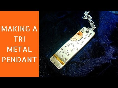 Making a tri-metal pendant | Diy pendant