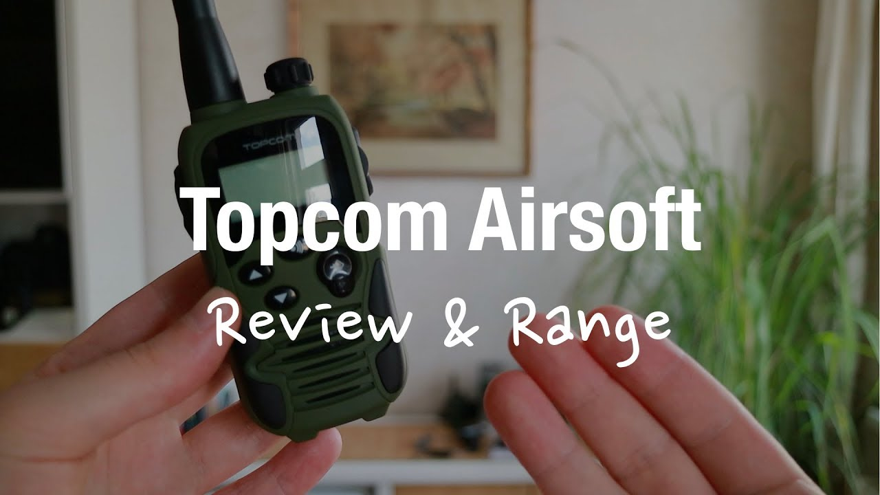 Kända Topcom Twintalker 9500 - Airsoft Walkie Talkies (Review and Range QL-22