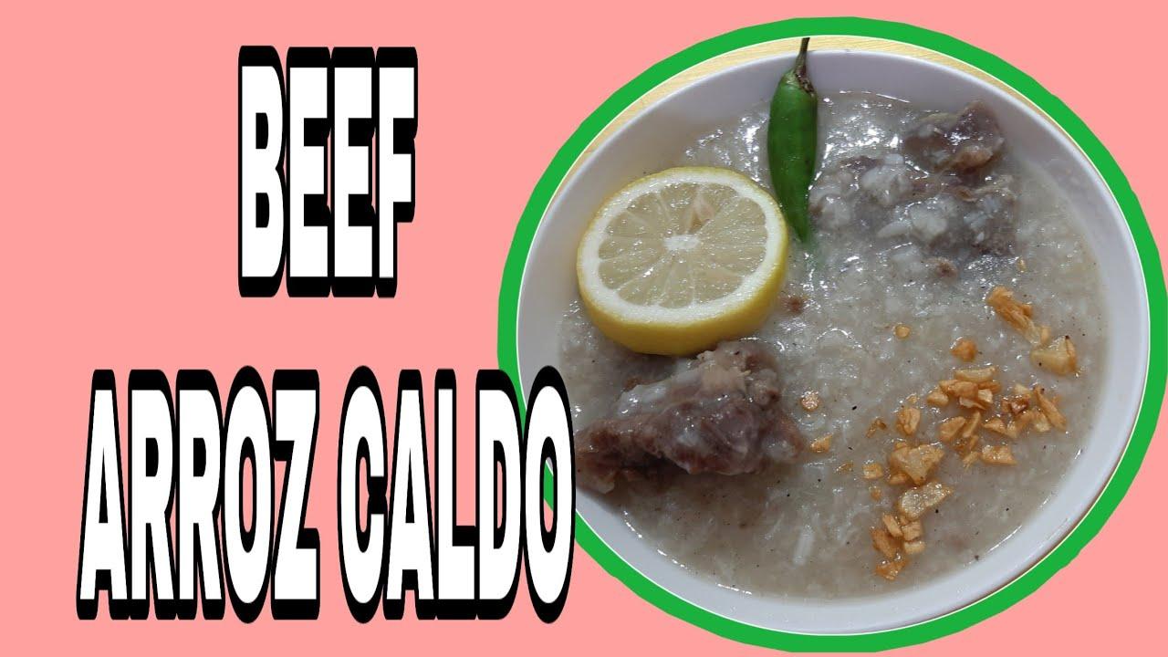 Tara at Magluto ng Masarap Na Beef Arroz Caldo   Beef Congee  Beef Recipes   Simple Cooking