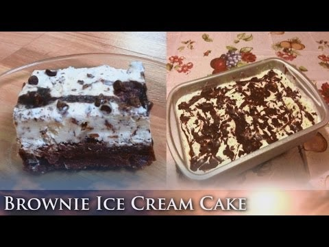 Brownie Ice Cream Cake Recipe. Ice Box Cake. Easy Refreshing Summer Recipe