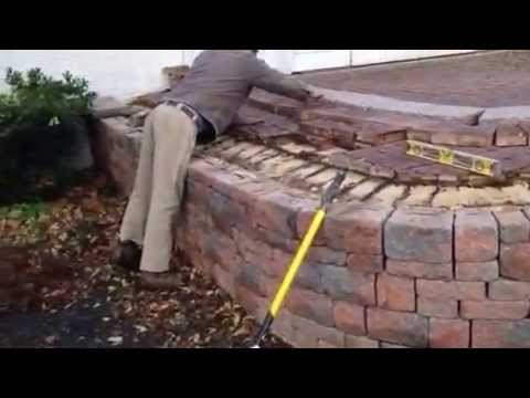 Retaining Wall Repair With Raised Patio   YouTube